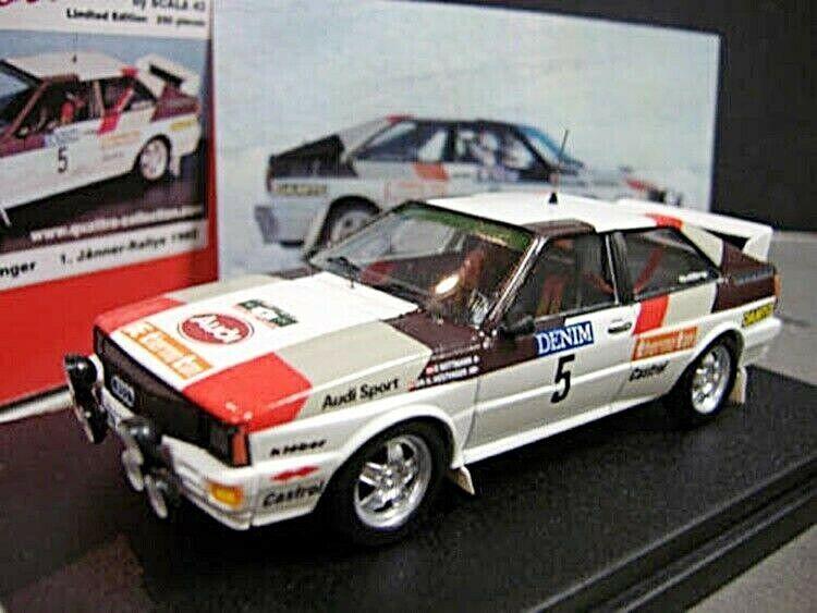 AUDI Quattro Rallye AT Jänner 1982 Wittmann  5 Winner Sieger 1 250 Scala43 1 43
