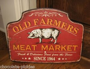 PIG-Farmers-Meat-Market-SIGN-Primitive-French-Country-Kitchen-Farmhouse-Decor
