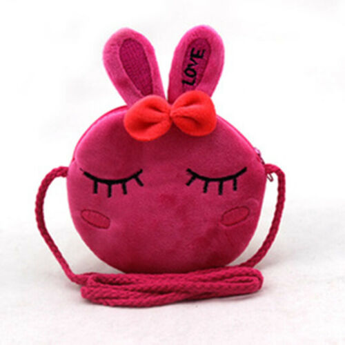 Kawaii Strawberry Kids Plush Coin Purses Children Small Shoulder Bag Mini Wallet