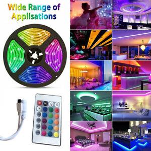 Tira De Luces 300 LED 5M RGB 16.4 FT Tiras Luz Para Decoracion Habitacion Cuarto