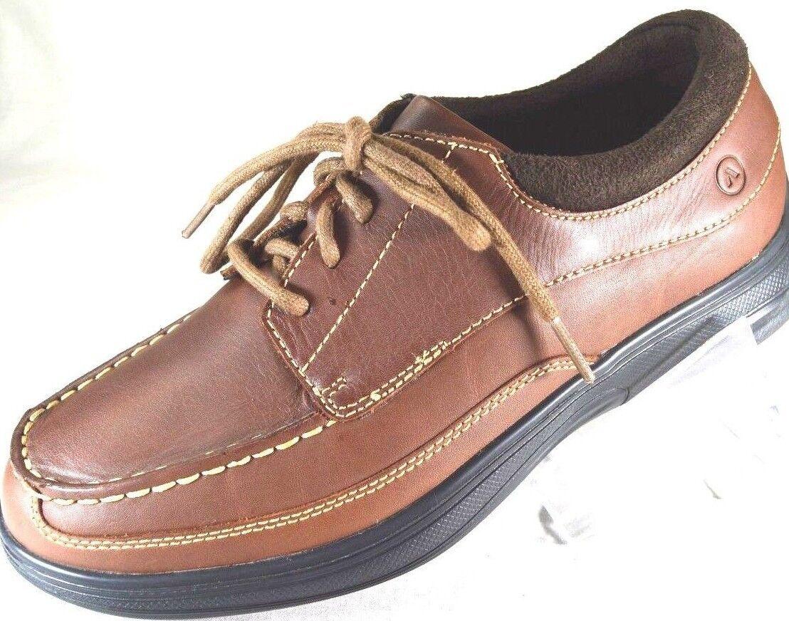Men Shoe Size 7.5 D Brown Leather Diabetic Casual Dress Shoe Anodyne