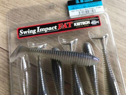 "KEITECH Lures Swing Impact FAT 3.3/"" 7 pcs JAPAN Strong scented Drop Shot jig"