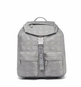 b193e32d5be Image is loading BRAND-NEW-WOMENS-MCM-SMALL-DIETER-MONOGRAMMED-SILVER-