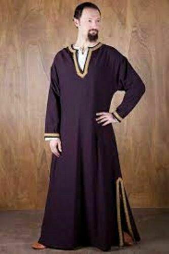 Medieval Peasant Tunic Purple Renaissance Clothing Dress Mast Good Styl: