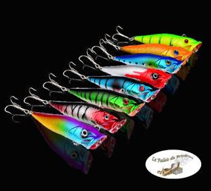 Leurre-poisson-nageur-Popper-88mm-12gr-peche-perche-truite-sandre-brochet