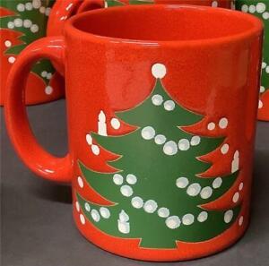 Waechtersbach Christmas Tree COFFEE MUG/CUP Red Green $5.99 Ea Several Available