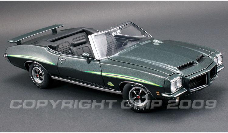 1971 Pontiac GTO Convertible vert 1 18  GMP 1801223  acheter en ligne