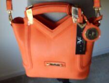 NWT Versace 1969 Abbigliamento Sportivo SRL Italy Orange Florence Satchel Bag
