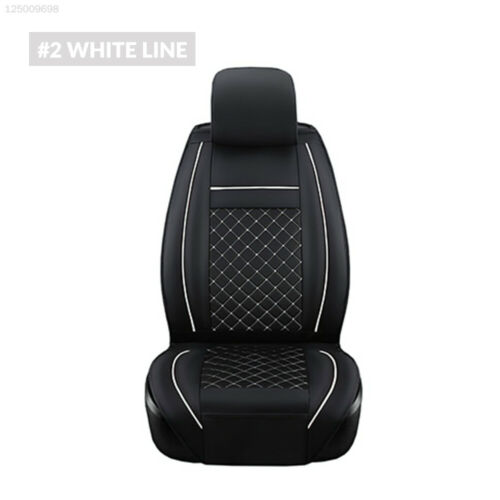 Black /& White 1 Pc Non-Slip Front Seat Cover Car Front Seat Cover PU Leather