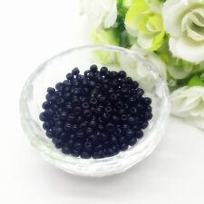 New Jewelry Making DIY 200 pcs 4mm Czech Glass Seed Beads Crafts Black #01