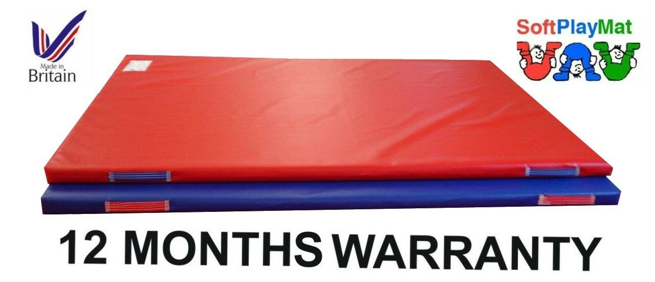2 PK RED 6X4X2 FT X 2 INCHES BOUNCY CASTLE SAFETY CRASH MATS