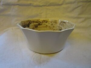 Vintage Off White Ivory 8 Quot Round Ceramic Pottery Planter