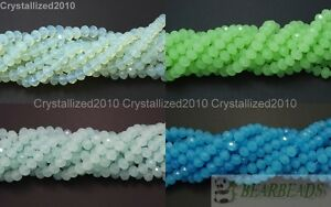 100Pcs-Top-Quality-Czech-Crystal-Opal-Bright-Faceted-Rondelle-Spacer-Beads-Pick