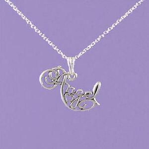 925 sterling silver angel word 1820 pendant a334 ebay la imagen se est cargando plata de ley 925 034 angel palabra 034 aloadofball Choice Image
