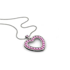 Pink-Sapphire-Heart-Pendant-0-69cttw-14K-Gold-with-14K-Gold-Cable-Chain-JP-28241