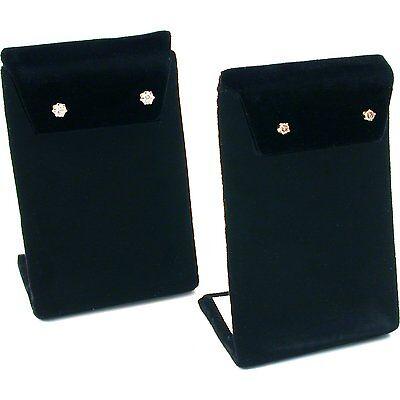"""Earring Display Stand Black Velvet 3 3/8"""" 2Pcs"""