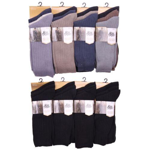 T166 Homme 12 Paires Chaussettes 100/% coton homme everyday wear costume de travail chaussettes de bureau