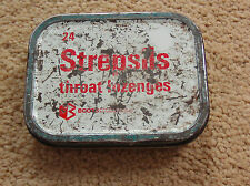 VINTAGE STREPSILS THROAT LOZENGES BOOTS CHEMIST TIN