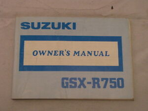 SUZUKI-GSX-R750-GSX750R-1988-OWNER-OWNER-039-S-OWNERS-MANUAL