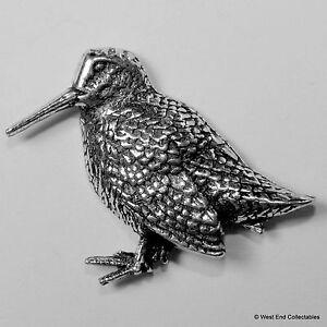 Pewter Woodcock Pin Badge
