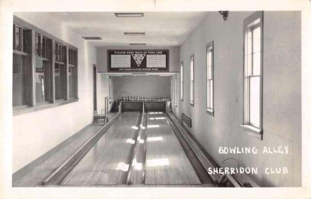 The Pas Manitoba Canada Sherridon Club Bowling Alley Real Photo Postcard AA26105
