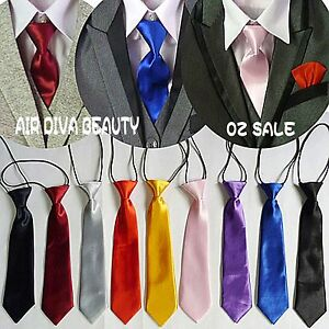 1PC-Boys-Kids-Children-String-Wedding-Party-Satin-Solid-Formal-Casual-Neck-Tie