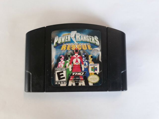 N64 Power Rangers: Lightspeed Rescue Video Game Cart *Authentic/Cleaned/Tested*