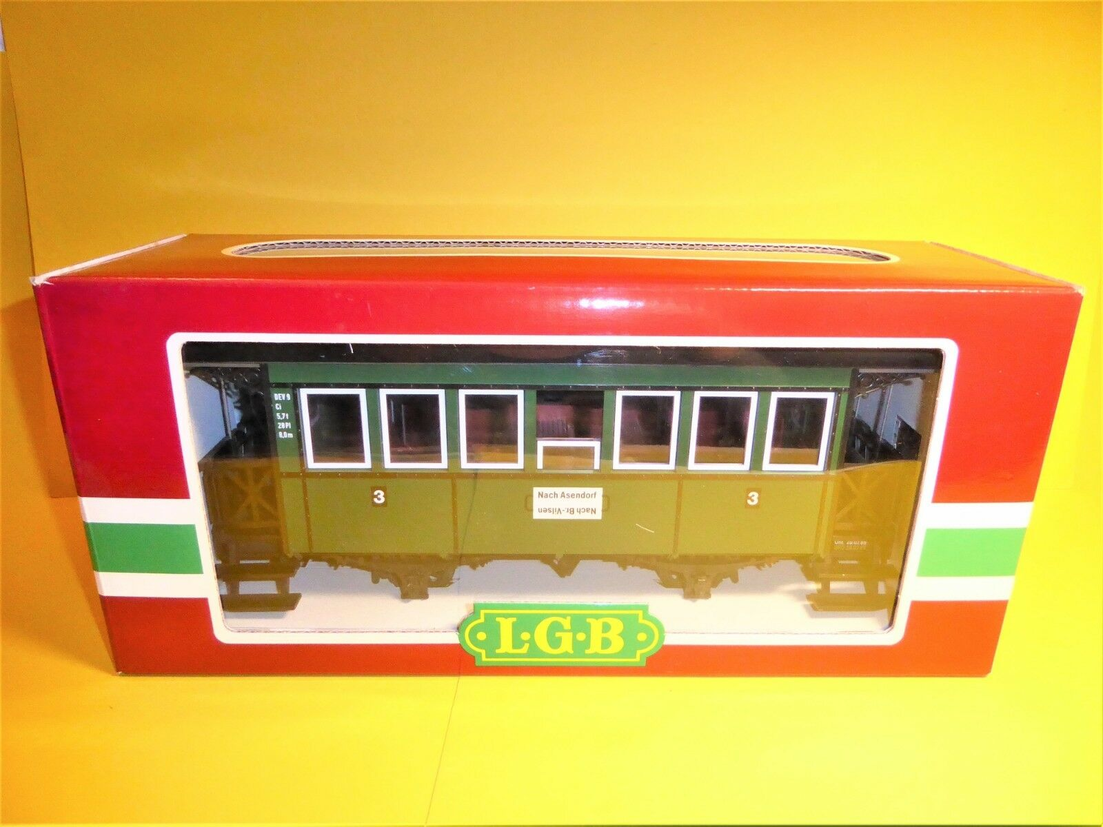 LGB 3020 con luce  dev vetture passeggeri