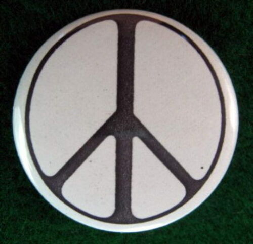 PEACE SIGN PINBACK BUTTON PIN BADGE 1980/'s