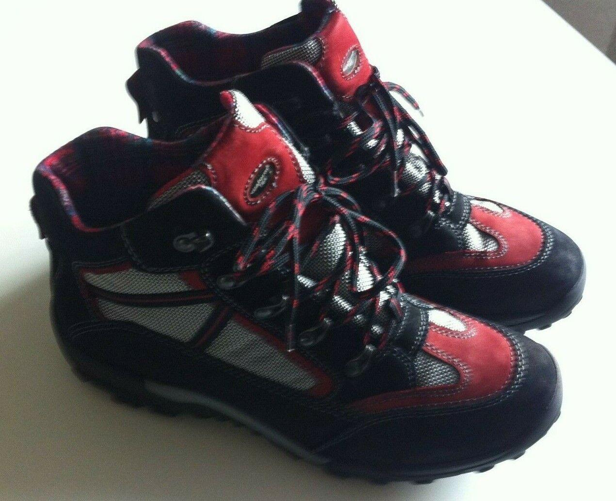 VITAFORM ACTIVE Trekking-Stiefel Nubuk Textil Profilsohle Schwarz Rot 38H