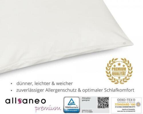 allsaneo premium Encasing Kissenbezug 50x50 cm Allergiker Anti Milben Bettwäsche