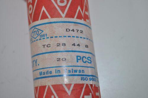 Lot of 2 TTO D472 Double Lip Shaft Oil Seals TC 28mm x 44mm x 8mm PN# TC 28 44 8