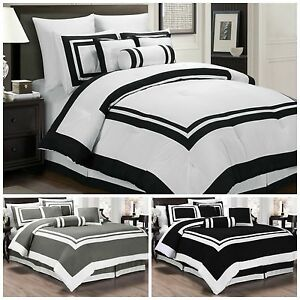 Chezmoi Collection 7 Piece Hotel style Comforter Set Full, Queen, King, Cal King