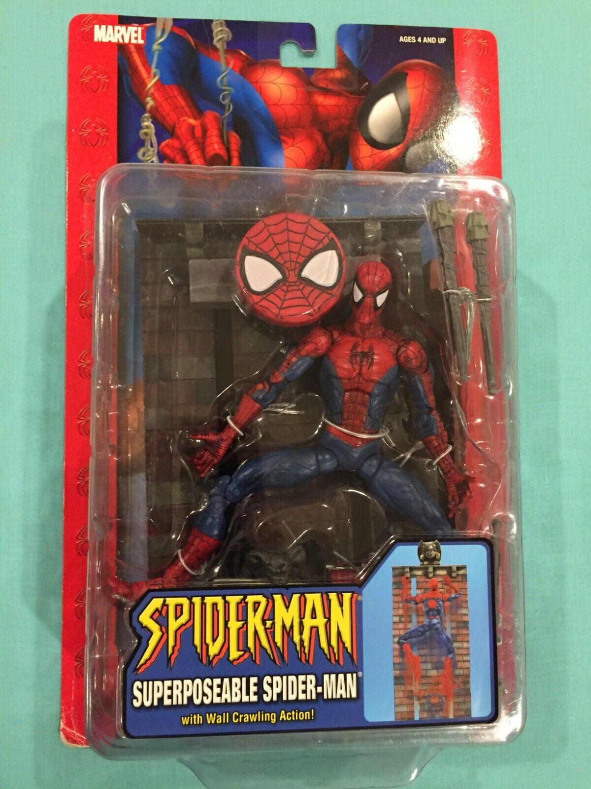 Marvel leggende SPIDERuomo classeics Mcfarlane MURO arrampicata giocattolo Biz
