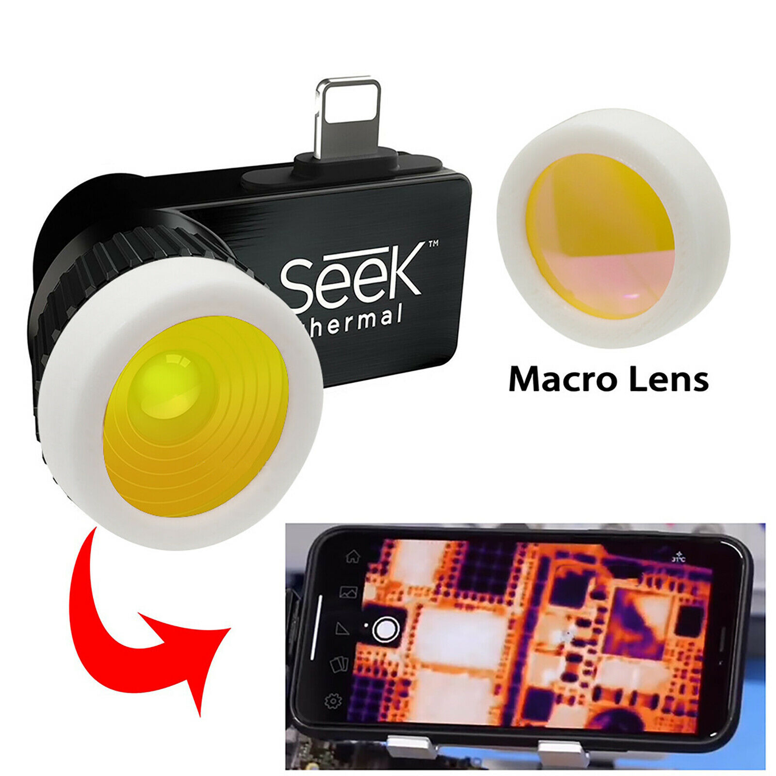Macro Lens for Seek Compact, Compact Pro and Compact XR Infrared Thermal Camera