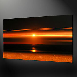 Image Is Loading ORANGE SUNSET WALL HANGING PICTURE PHOTO BOX CANVAS