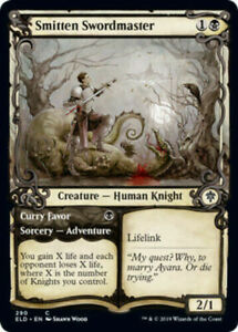 MTG-Smitten-Swordmaster-SHOWCASE-FOIL-Throne-of-Eldraine-NM-M
