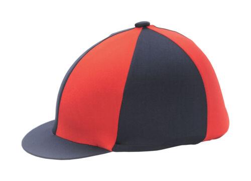 Rouge /& Bleu Marine Équitation Chapeau Couverture en soie pour Jockey caps taille unique