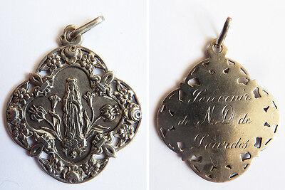 Bescheiden Médaille Pendentif Religieux En Argent Massif Silver Medal Fleur De Lys Betrouwbare Prestaties