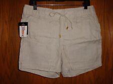 Ellen Tracy Company 100 Linen Womens Shorts Multiple Colors/sizes Sandstone Small