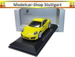 Porsche 911 (991 Ii) Carrera 4s Coupé Course Jaune Herpa 1:43 Wap0201110g Neuf