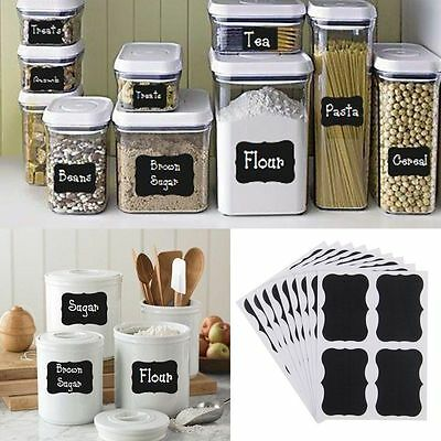 36pcs Chalkboard Blackboard Chalk Stickers Decals Craft Kitchen Jar Labels FE