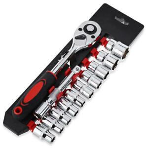 Ratchet-Wrench-Socket-Set-Hardware-Vanadium-Repairing-Kit-Hand-Tools-12pcs