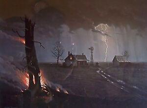 Jesse Barnes The Burning Tree S N Paper Art Print Mint W Coa By