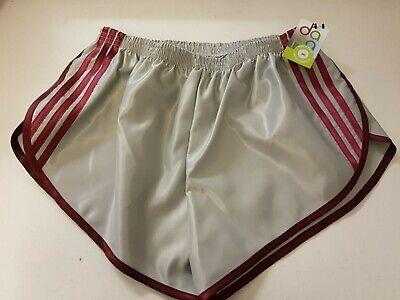Grey-Pewter Nylon Satin Sprinter Shorts S to 4XL