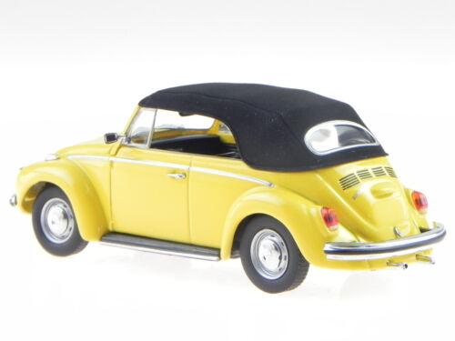 VW Käfer 1302 Cabrio 1970 gelb Modellauto 940055030 Maxichamps 1:43