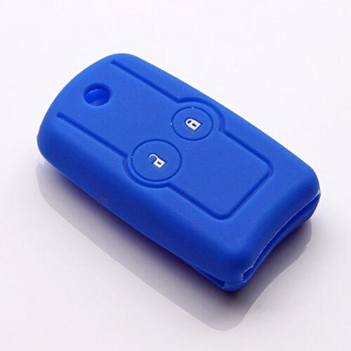 silicone blue key fob cover case for Honda Accord CRV 2014 Odyssey Jazz Civic