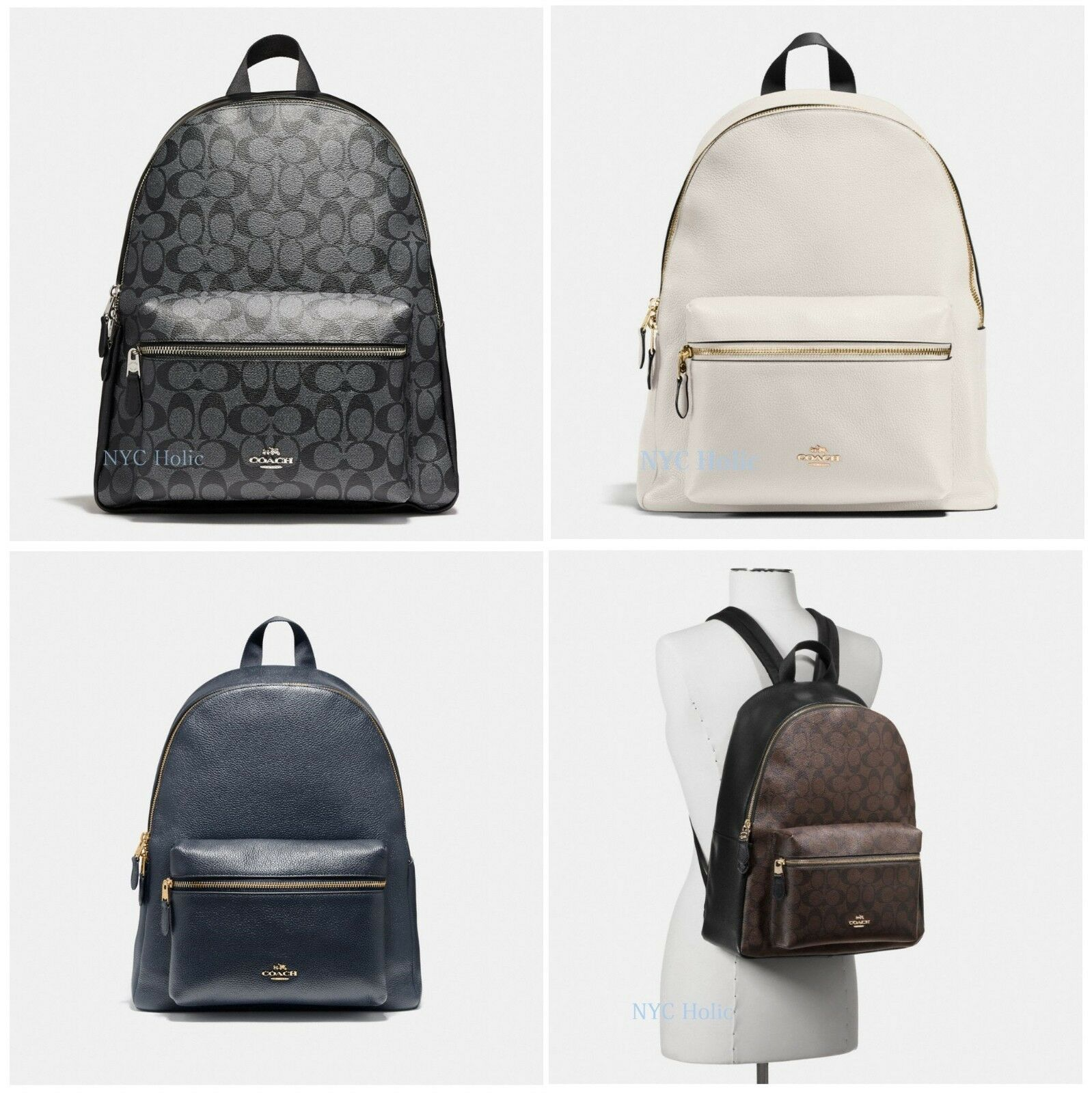 6bdc2e03ef Details about New Coach Womens F29004 F58314 Charlie Backpack Leather
