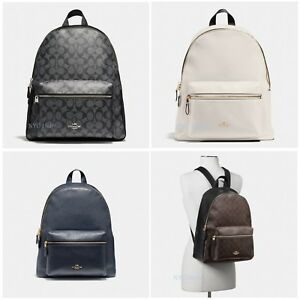 Image is loading New-Coach-Womens-F29004-F58314-Charlie-Backpack-Leather 7057ecec732f2