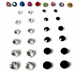 Pair-Non-Piercing-Clip-on-Magnetic-Magnet-Ear-Stud-Mens-Womens-Fake-Earrings